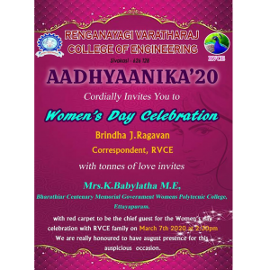Women's Day Celebration 2020 – RVCE