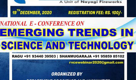 RVCE – National E-Conference on Emerging Trends in Science and Technology