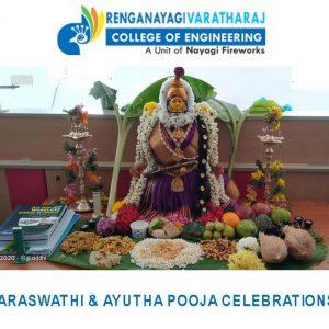 RVCE-SARASWATHI & AYUDHA POOJA Celebrations 2021